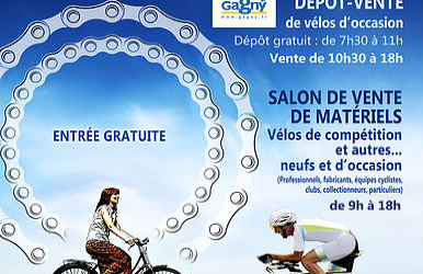 La 9ème Braderie du Vélo de Gagny se tiendra le dimanche 4 novembre 2018