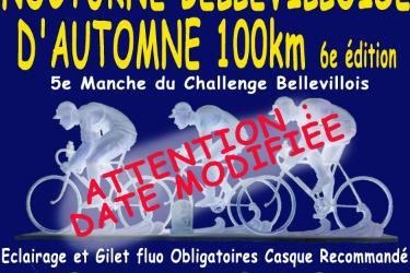 Modification de la date de la Nocturne Bellevilloise d'Automne.